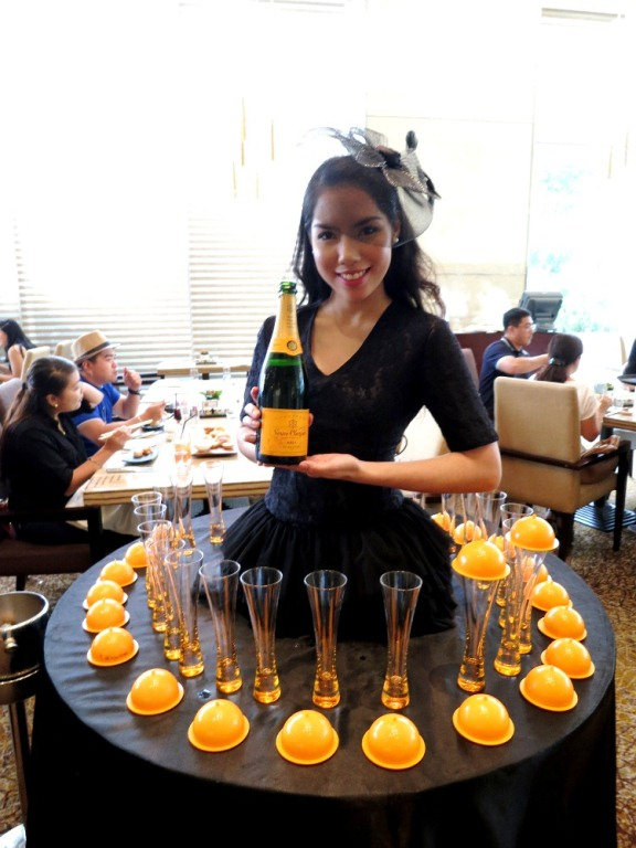 "The Veuve Clicquot ""champagne lady"" will ensure you have a bubbly time"