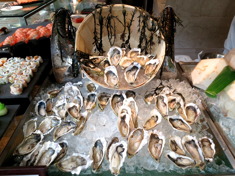 These precious Fines de Claires oysters are beautiful, elegant and clean, and a great deal to be part of the buffet