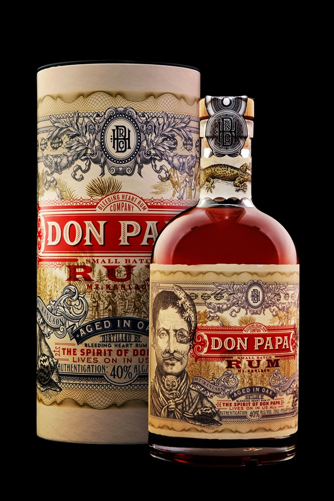 Don Papa Rum 70cl Bottle with Canister