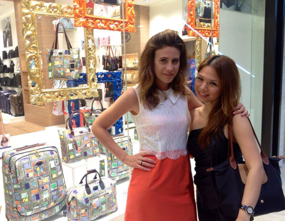 Francesca Versace and I at the BRICS Store at SM Aura, a few hours before they officially opened the new BRICS store at the  new EDSA Shangri-La East Wing