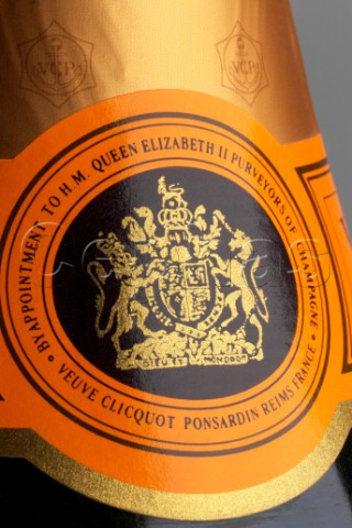 Veuve Clicquot's is stamped with a Royal Warrant from Her Majesty Queen Elizabeth II (Photo courtesy of cephas.com)