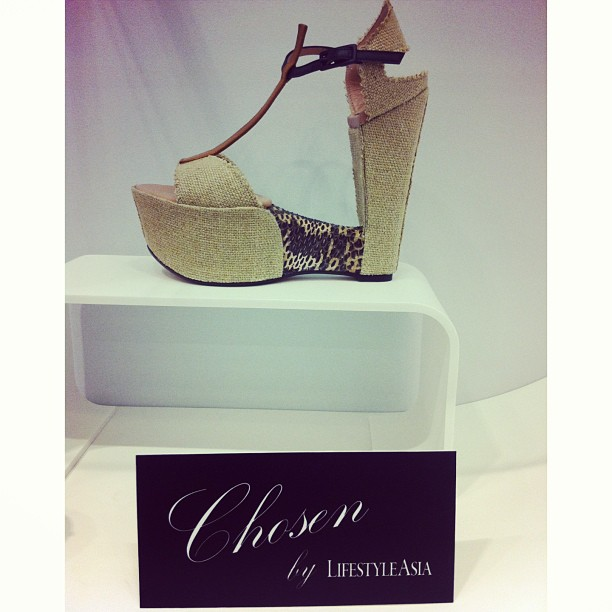 Stuart Weitzman Yellow Triboro Heel made from canvas with an open t-bar strap, with a snakeskin center below
