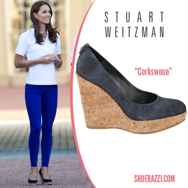 Kate Middleton in Stuart Weitzman's Corkswoon