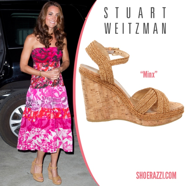 The Duchess of Cambridge in Stuart Weitzman Minx wedges (Photo courtesy of shoerazzi.com)