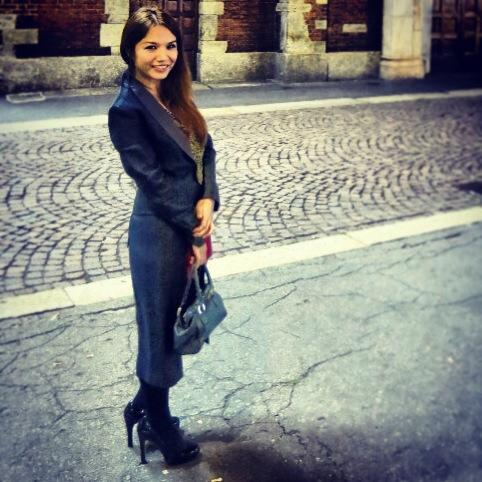 Wearing my Pinoy pride in Milan: Rajo Laurel tail coat  and cocktail dress, and Joel Escober neckpiece