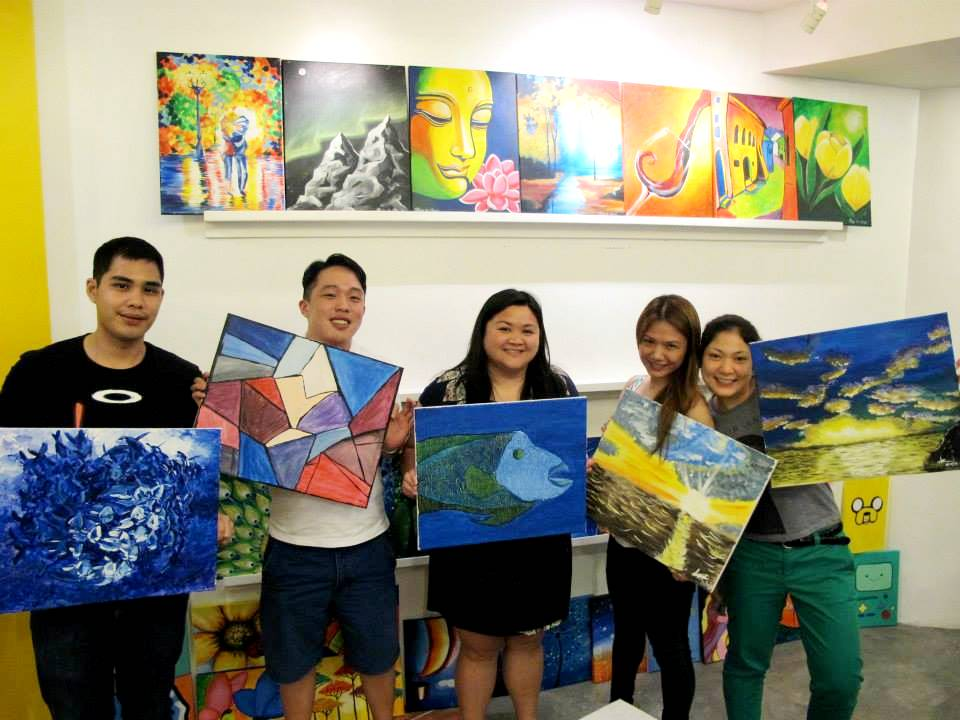 Jay Espinas, Bill Tan, Beverly Tiu, Cheryl Tiu, Gretchen Chua at Sip & Gogh