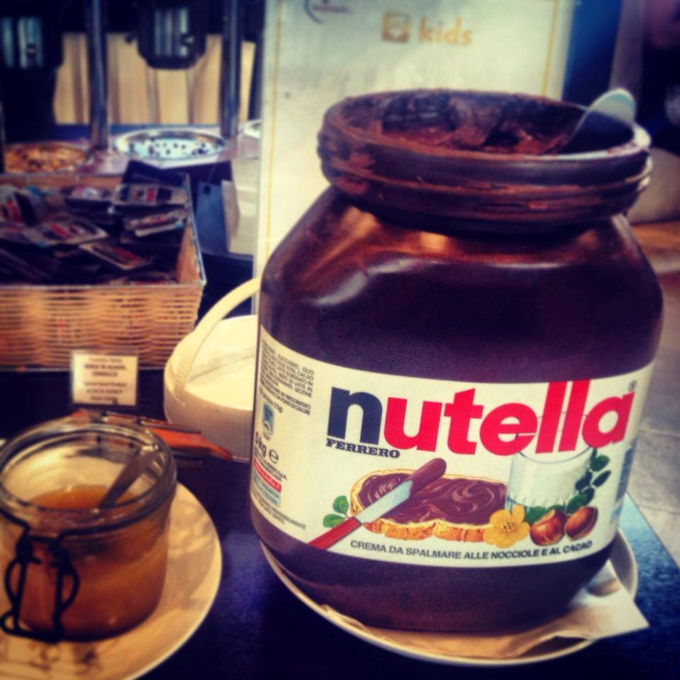 Where else can you find a 5kg jar of Nutella for BREAKFAST? Only in Italy! :)