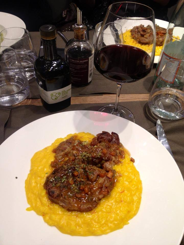 When in Milan, must have osso bucco and risotto Milanese! At EATS at Excelsior