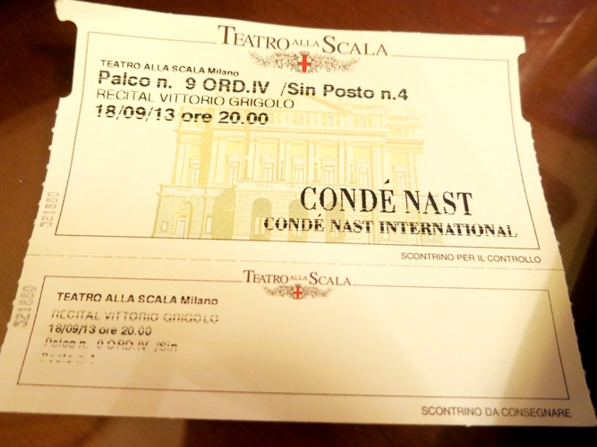 """Tickets to Vogue Italia's Fashion's Night Out gala """"One Night, One Voice"""" at La Scala!!!"""