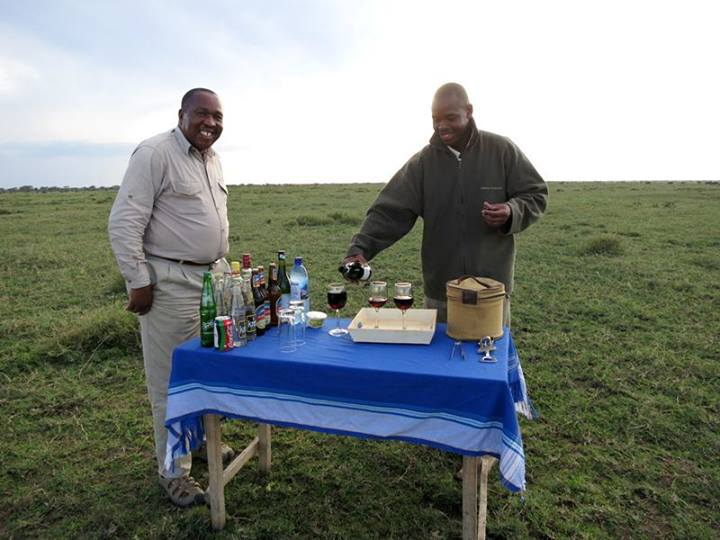 "Cocktail hour in the middle of the Serengeti surrounded by wildebeests! This is such a precious experience!!! The Serengeti is the best ""bar"" in the world :)"