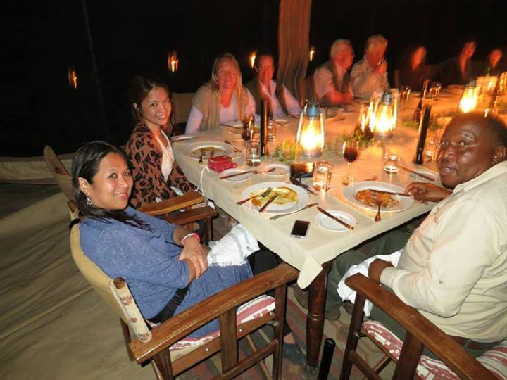 Dinner at Serengeti Safari Camp 2