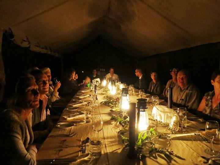 Dinner at Serengeti Safari Camp