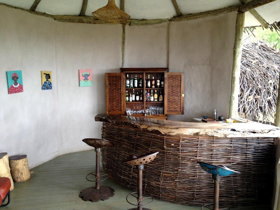 The bar is created from native materials