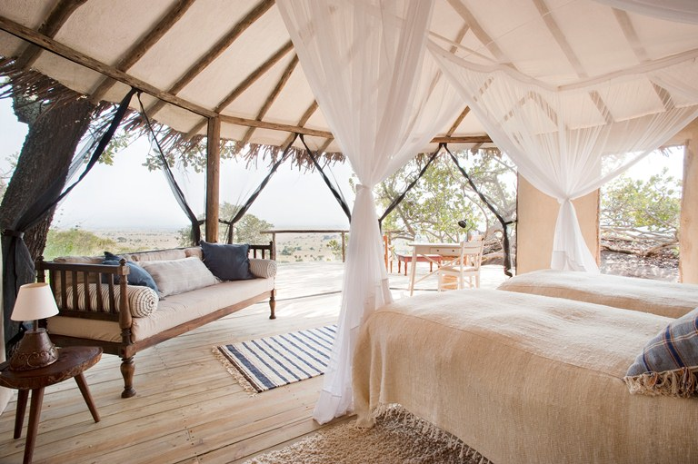 Lamai Serengeti was chosen by Conde Nast Traveller as the world's nest bew hotel in Tanzania for 2012