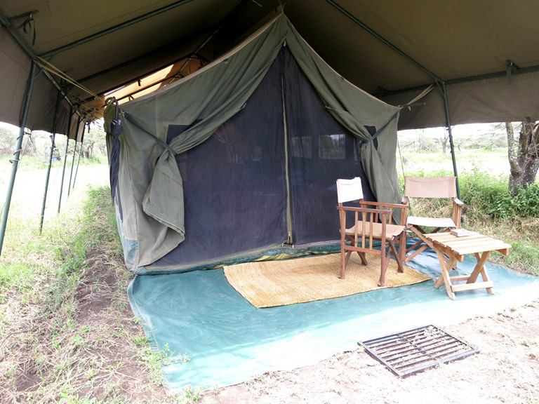 Our home for 2 nights. The most important rule in the camp is that guests are not allowed to walk back to the room alone, lest they run into a lion. Shoes must be kept inside at all times, too, in case a hyena decides to make an appearance.