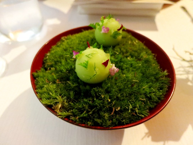 Chlorophyll Capsule by Chef Andre Chiang