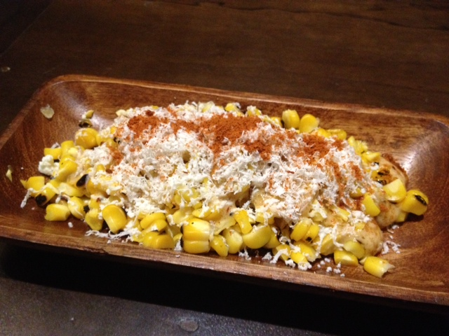 Atoda Madre's Elotes Callejeros- Grilled and buttered Mexican street corn