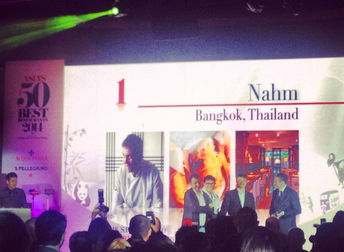 David Thompson's Nahm from Bangkok, Thailand was named the #1 restaurant in Asia for 2014