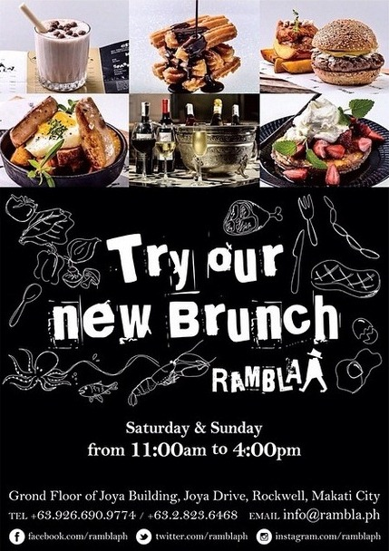 Rambla Special Brunch Menu Saturdays and Sundays