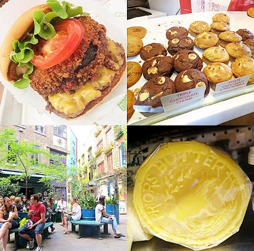 Covent Garden- Shake Shack and Ben's Cookies; Neal's Yard Dairy- Clotted Cream Butter