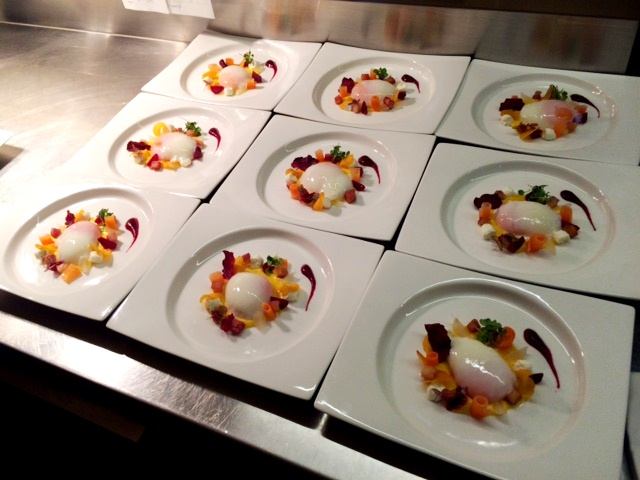 Rob gave us a tour of the kitchen and all the colors of the organic egg dish are so beautiful when plated all together