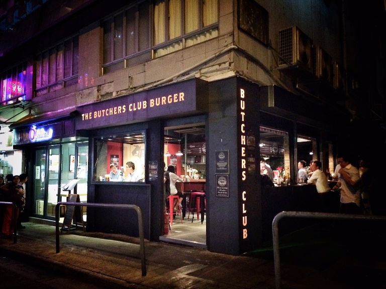 Butcher's Club in Wan Chai-- no reservations- you just walk in, queue and enjoy your burger