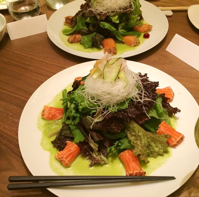 Super fresh Sashimi Salad.. perfect for those on a diet or who just want to eat clean