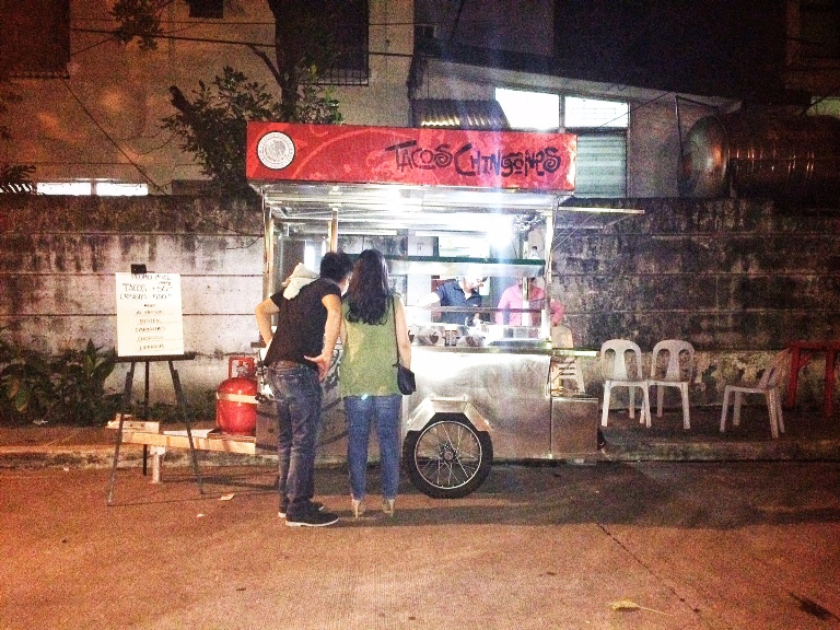 Tacos Chingones- the first mobile taco cart in the Philippines- located in Makati