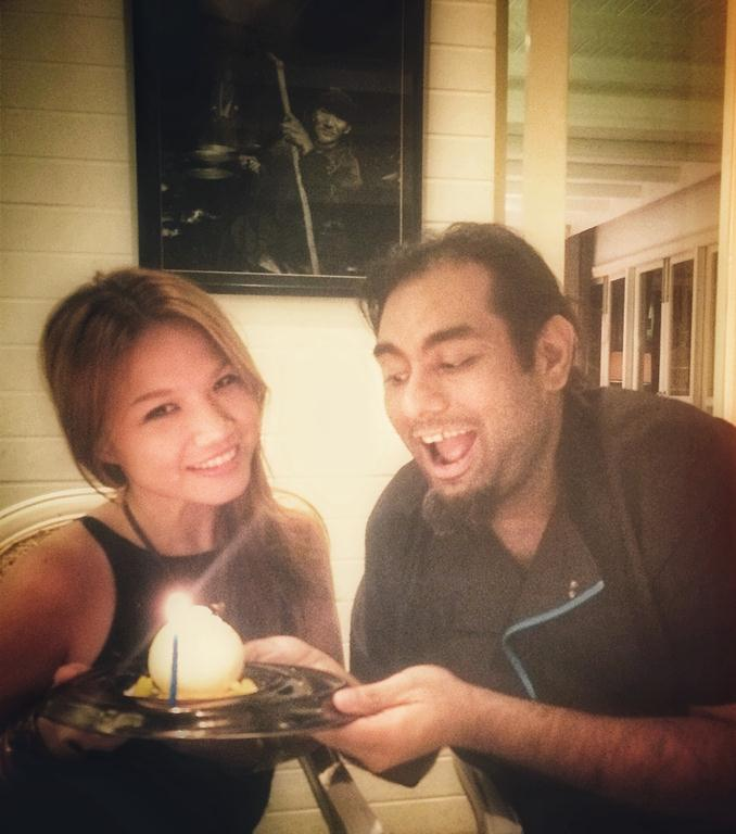 "Turning a year older at Gaggan. ☺️☺️☺️ Felt so blessed to celebrate my birthday salubong at the #3 Best Restaurant in Asia and #17 Best in the World, with Gaggan himself personally presenting me a mango bomb ""birthday cake."" :)"