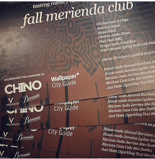 Fall Merienda Club Invitation and Menu designed by noted Hong Kong-based architect and blogger JJ Acuna aka The Wanderlister