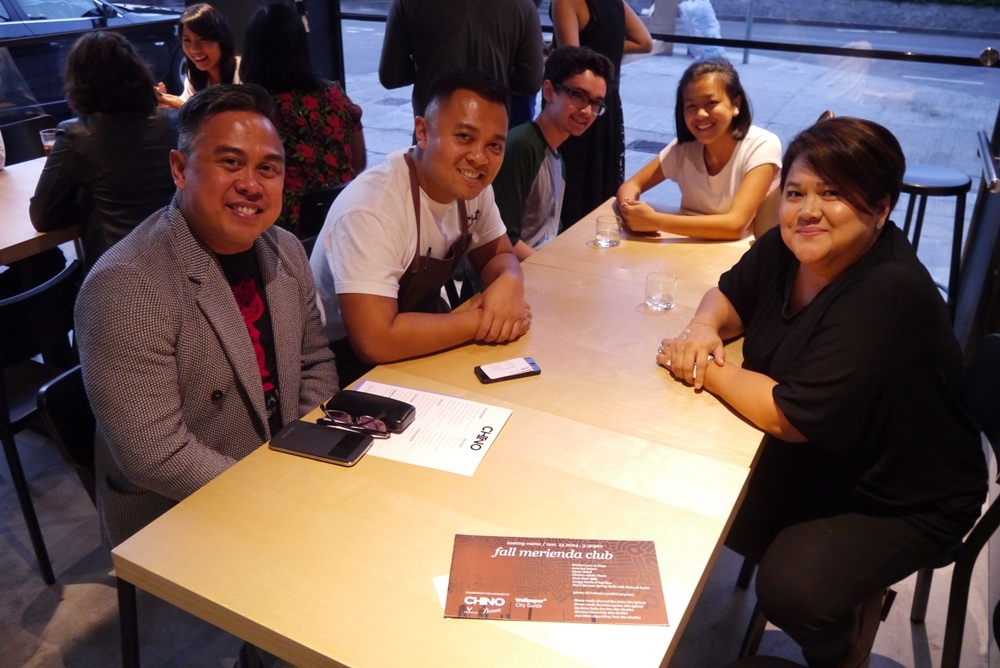 Rex Agudado, managing editor of The Peak, Chef Erik Idos of Chino, Cathy Chon, founder Catch On Media and her kids