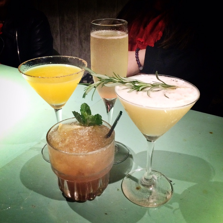 Lovely cocktails at Salon 10.. Capitano, The Narcissist, Bellini and Passion Fruit Margarita