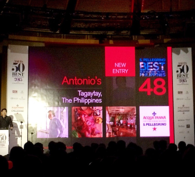 The 1st time the PHILIPPINES is on the list of Asia's 50 Best Restaurant!!! Whoohoo Antonio's, Chef TonyBoy Escalante & team, we are sooo proud of you!!!