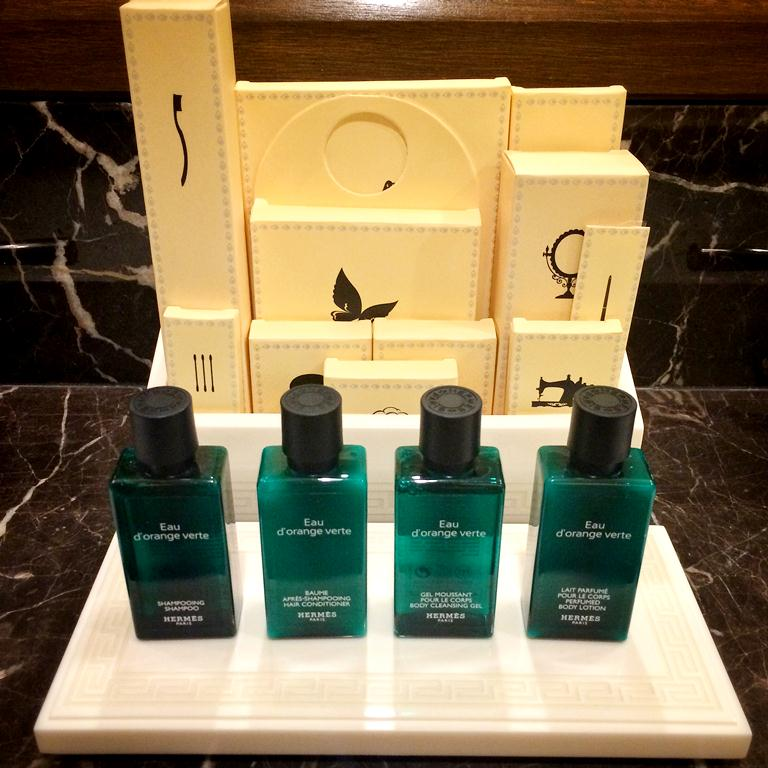 Of course, only Hermes amenities for the best ;)