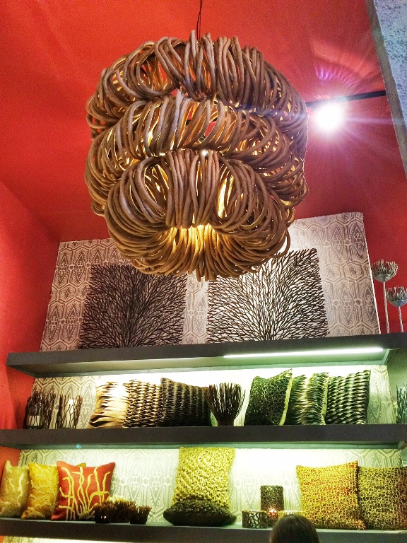 This is not the most accurate photo of the Tadeco booth, but this is the only photo I have at the moment. I love how they weave abaca into their pillow designs!