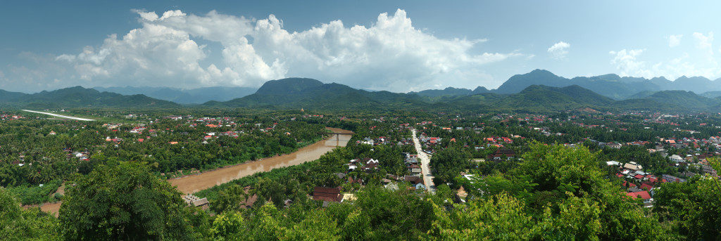 Panoramic view of Luang Prabang taken from Phousi Hill (Photo by Benh Lieu Song for Wikipedia)