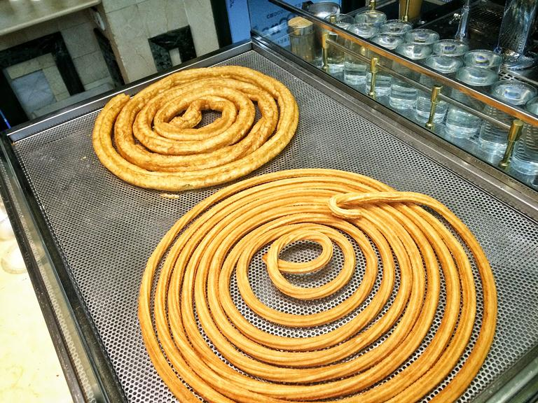 A trip to San Gines, Madrid's most famous churros place that's open 24 hours (yup, 24 hours!) is not to be forgotten, of course!