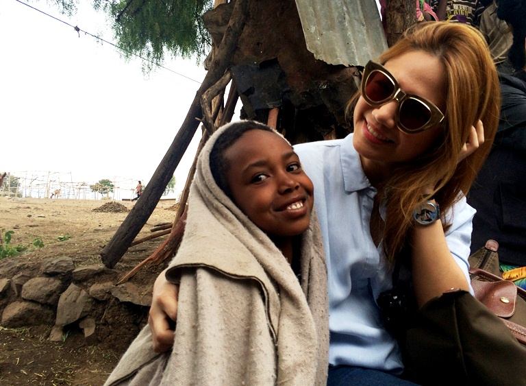 Chery Tiu and Semegh in Lalibela, Ethiopia