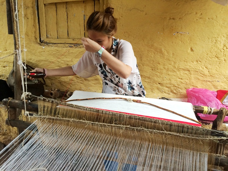 Cheryl Tiu threading at The House of the Lalibela Artisans