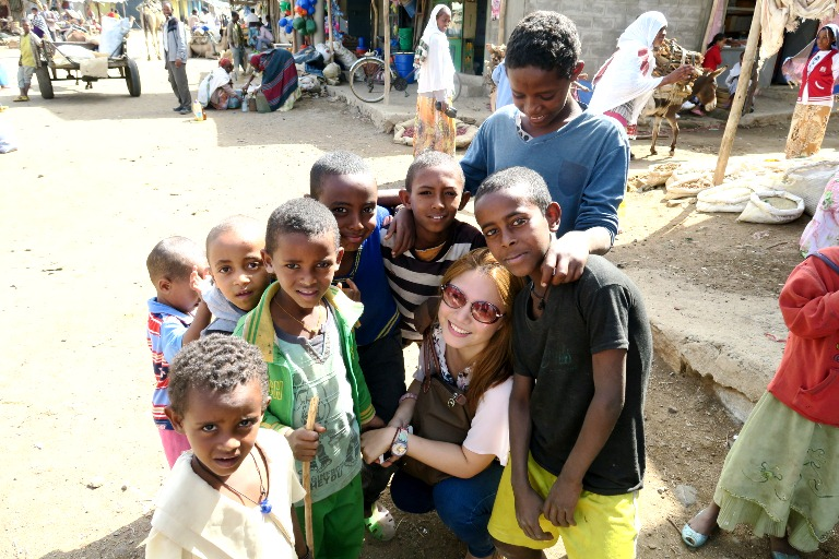 These kids of the vendors and farmers are so adorable! They were so kind, friendly and curious, definitely had to have a photo with them :) The heart of Ethiopia is really the people!