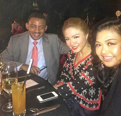 Ethiopian Airlines Philippines Country Manager Solomon Bekele, Geiser Maclang brand architect Amor Maclang and me celebrating Philippine Independence Day at the Mega Pinoy Pride Ball last June 12