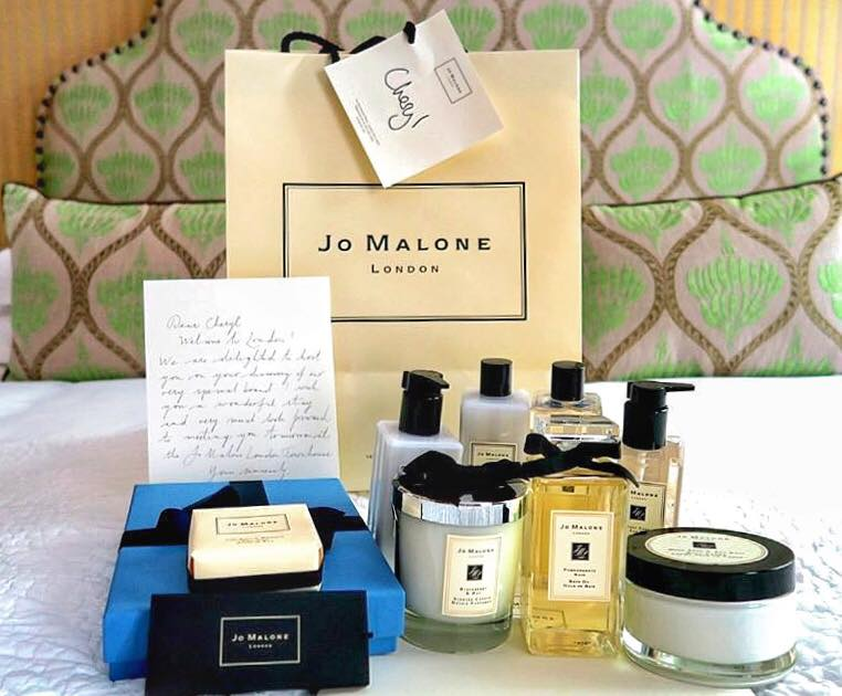 A warm Jo Malone welcome waiting for me in my room at London's Covent Garden Hotel!