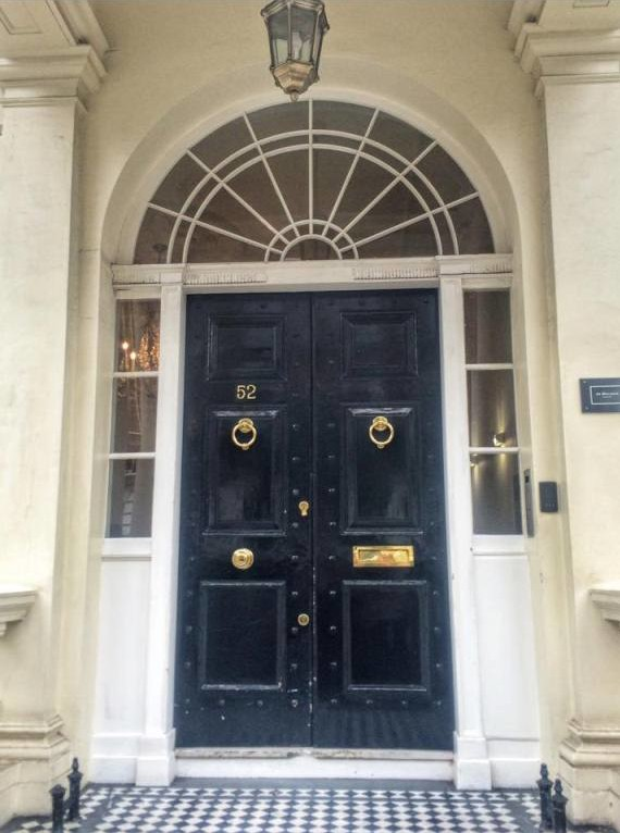 Entrance to the Jo Malone Townhouse on Sloane Street...