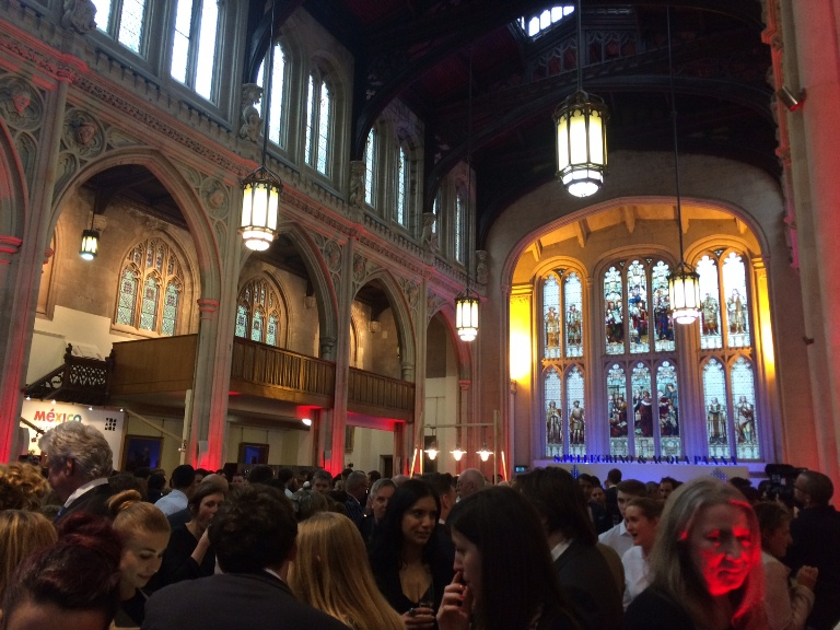 Cocktail hour at the gorgeous Guildhall..