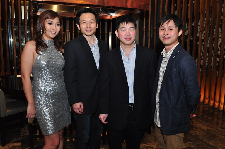 Artisan Cellars' Roxanne Lee, Rey Co, Alexander Ong and Benjamin Ong at the Chateau Lafitte Dinner at Nobu Manila