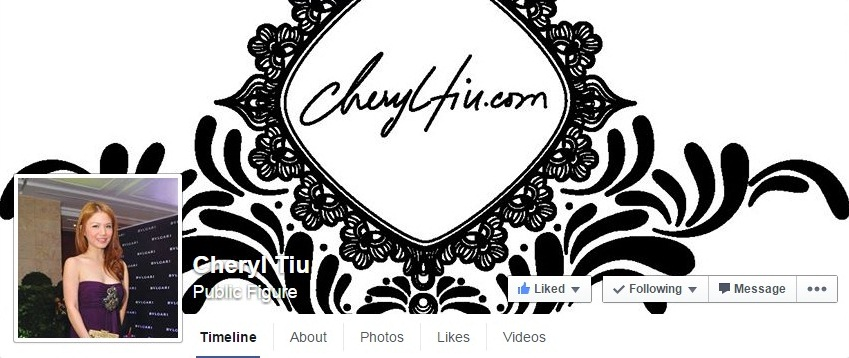My new Cheryl Tiu Facebook page!