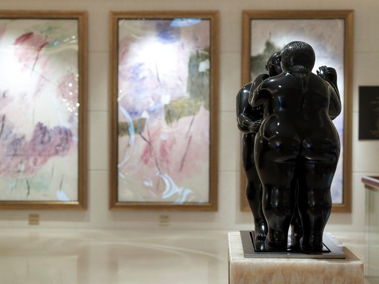 """Dancing Nude Couple"" by Fernando Botero on the 1st floor above the lobby level"