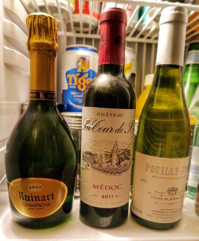 Lucky ducky! The Ruinart Brut (not sold elsewhere in Singapore) is available in the room's mini bar