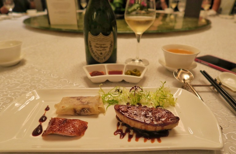 Yan Ting- St. Regis Singapore- Dom Perignon Gastronomy Journey- Peking Duck Served with Pan-Seared Goose Liver (2)