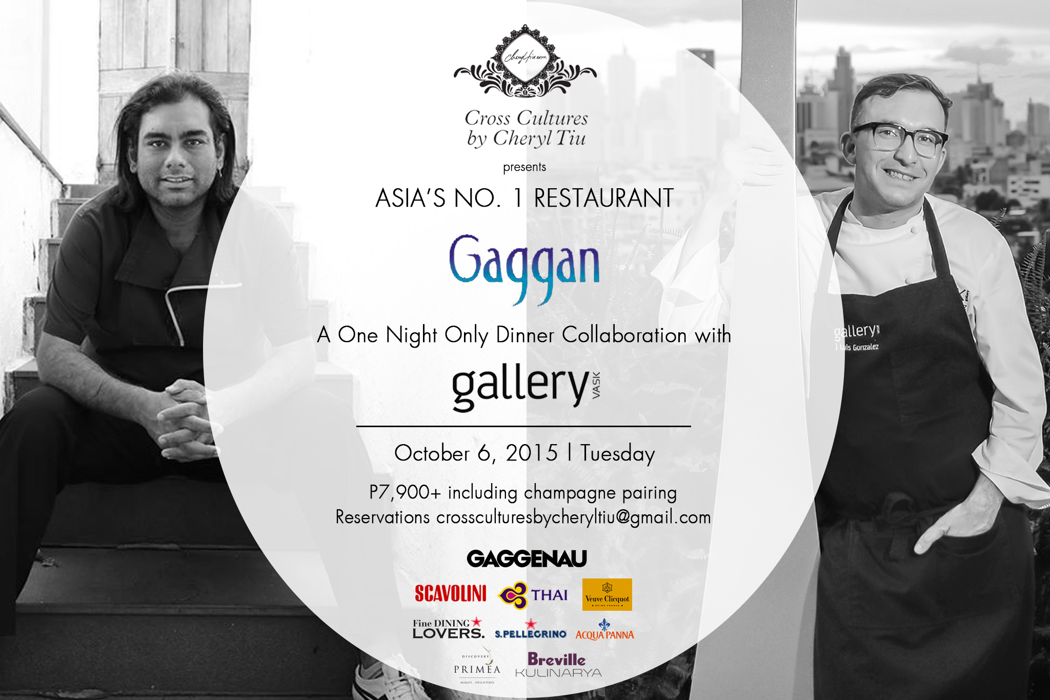 Cross Cultures x Gaggan x Gallery Vask- October 6, 2015 Tuesday
